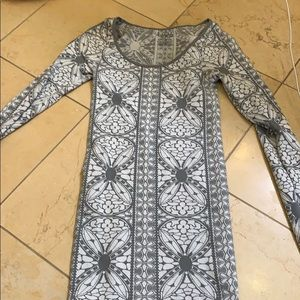 Free people body con patterned dress